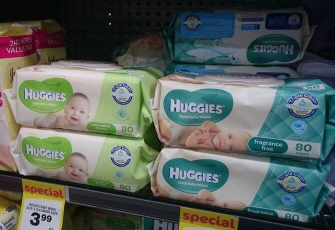 お尻拭き - ハギーズベイビーワイプ(HUGGIES Baby Wipes)