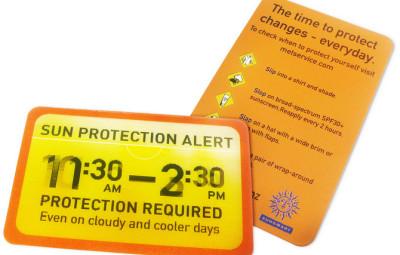 日焼け防止時間帯のお知らせサービス
