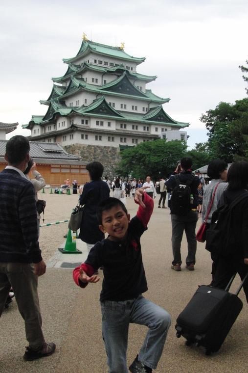 愛知県名古屋城 外国人